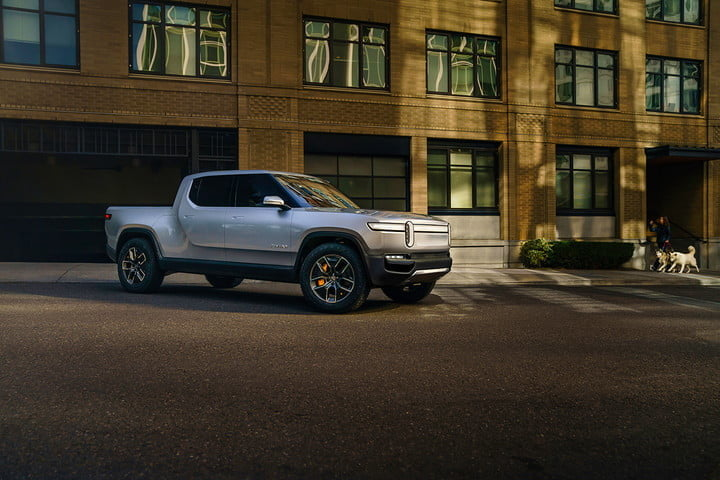 rivian rj scaringe interview r1t parked