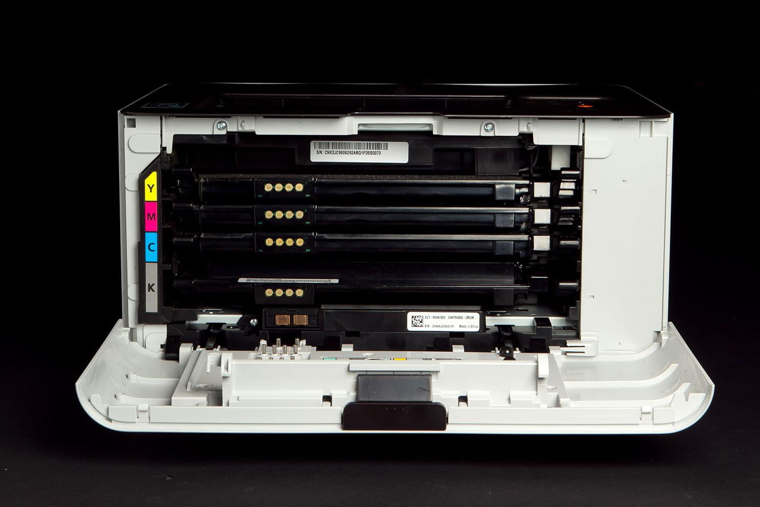 Xpress color printing - Samsung Printer Xpress C W Review Front Panel Open