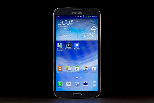 Samsung Galaxy Mega 6.3 front screen