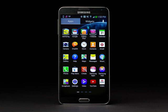 samsung galaxy note 3 front screen apps
