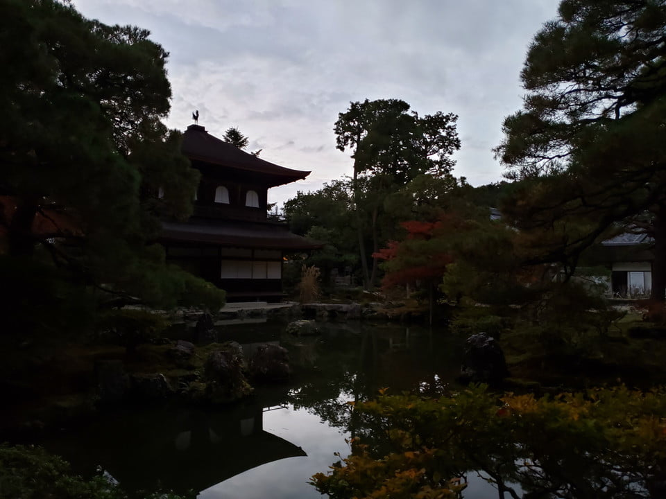 Samsung Galaxy Note 9 Evening Kyoto temple at dusk