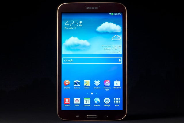 Samsung Galaxy Tab 3 review front home screen