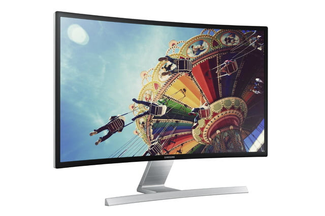 samsung reveals curved 27 inch 1080p pc monitor sd590c l perspective