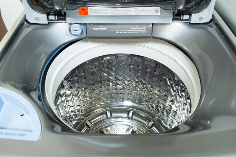samsung wa8700 toploading washer review futuristic or old school this samsung washer with a handwashing sink is both - Top Load Washer Reviews