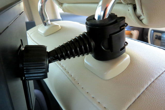 hands on satechi car mounts and accessories universal headrest tablet mount