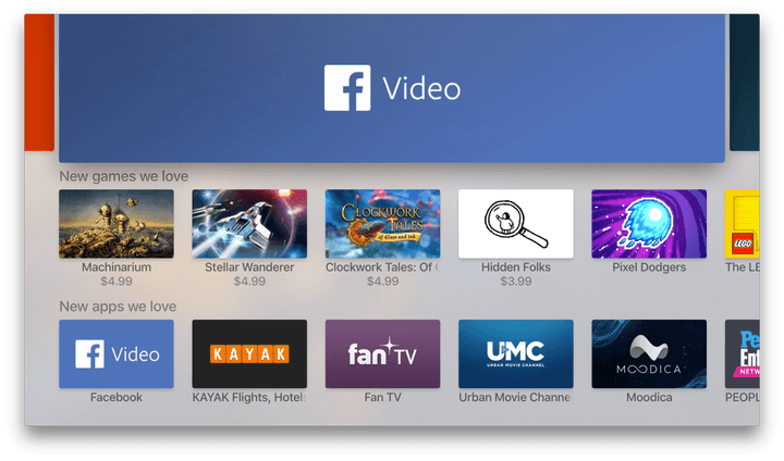 Facebook video app is now available on Apple TV, Samsung
