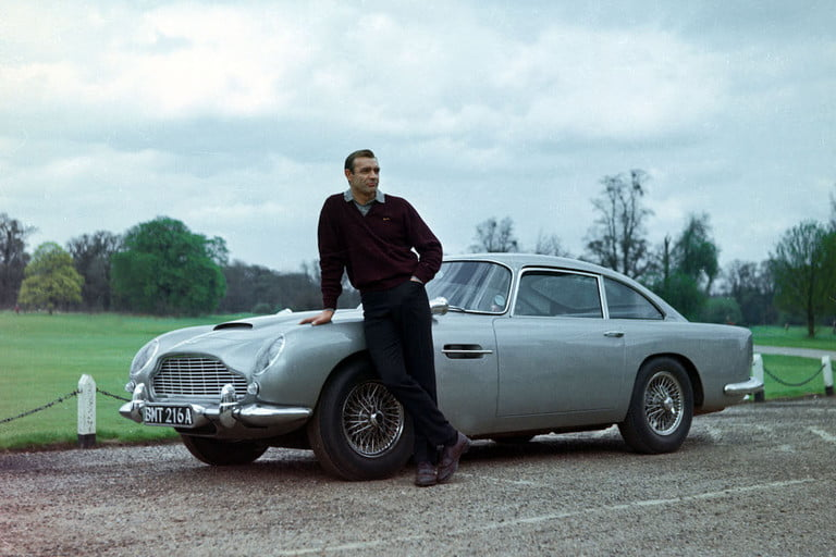 007s actual aston martin db5 from goldfinger mightve been found sean connery as james bond 007 with set