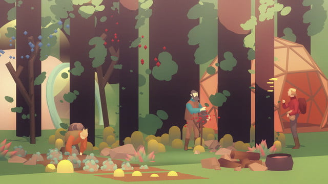 Seed Concept Art resource gathering in a forest