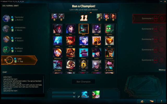 league of legends 2016 update select 4