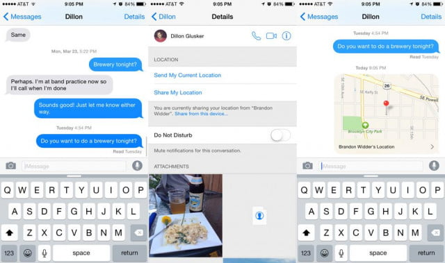 Location sharing on iPhone