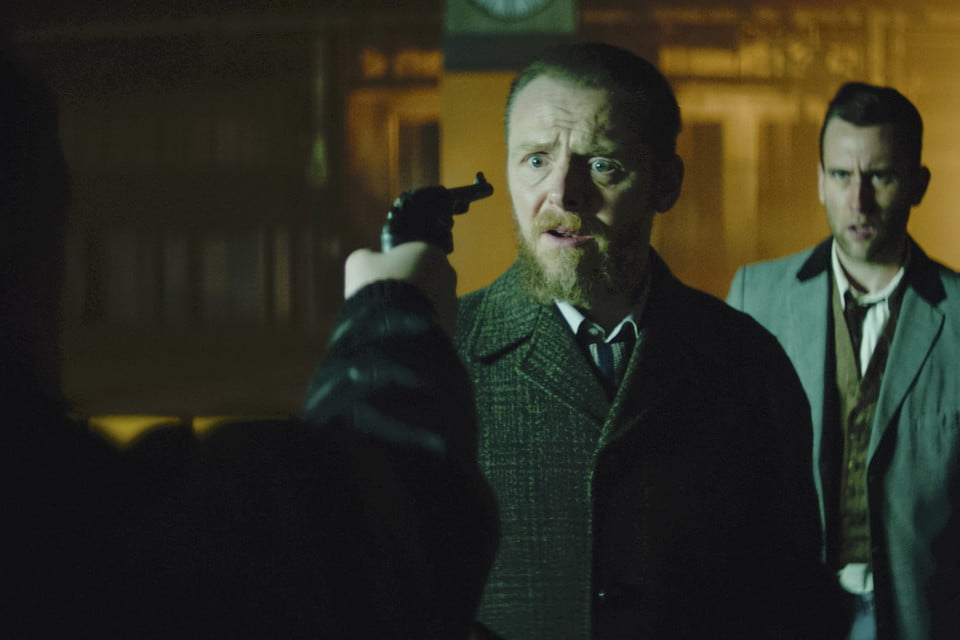"""Simon Pegg as Bill and Matthew Lewis as Lenny in the thriller """"Terminal"""""""