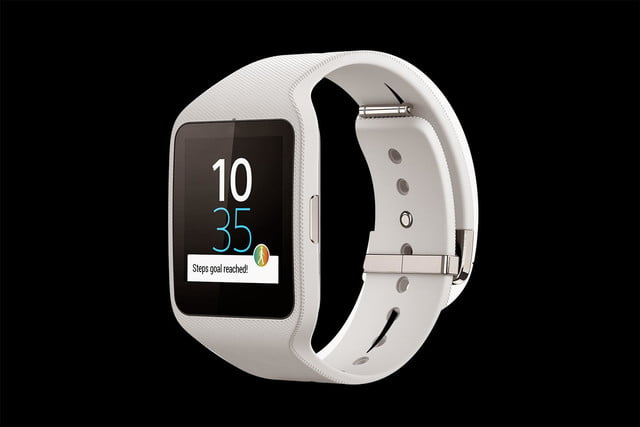 Sony Smartwatch 3 front angle white