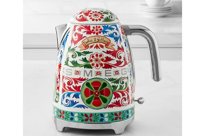 smeg dolce and gabbana i love sicily small kitchen appliances  electric kettle ws