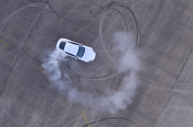 aston martin joyride video smoky donut