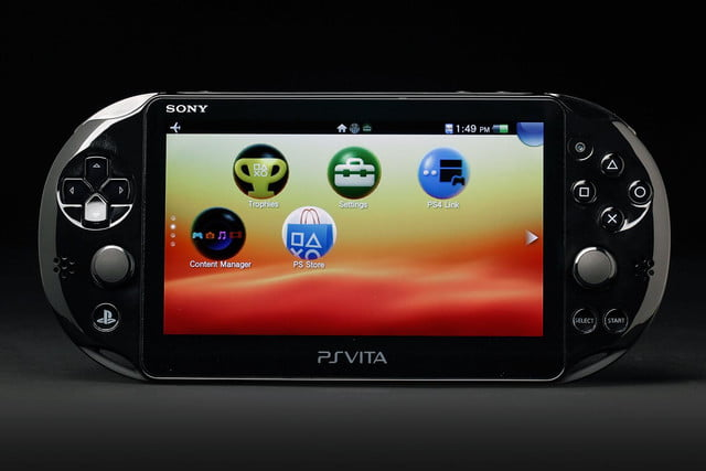 Sony PlayStation Vita Slim review front screen home 2