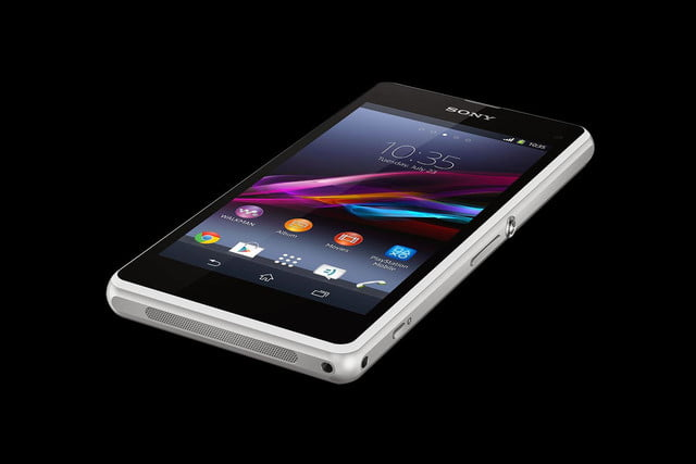 Sony Xperia Z1 Compact table angle