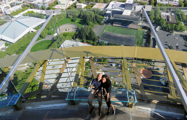 seattle space needle now has a revolving glass floor 4