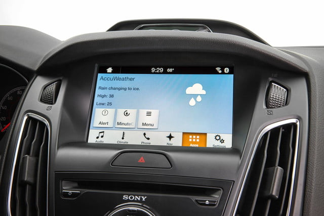 Ford Sync AppLink AccuWeather Current Forecast Screen