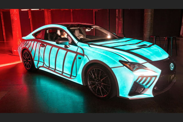 lexus rc f glowing heartbeat paint job pictures video techly lumilor coupe 7