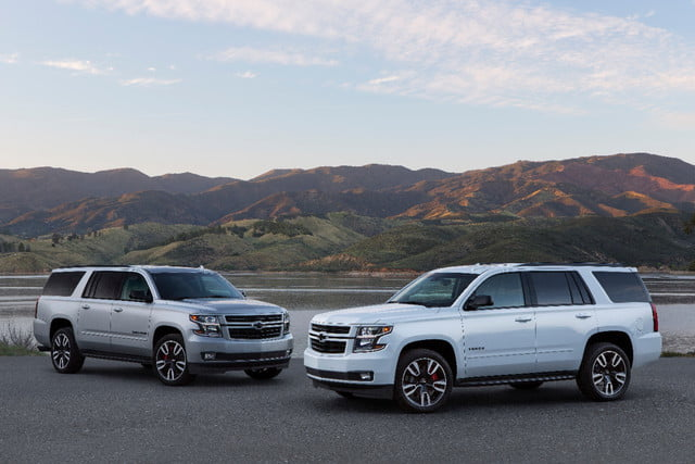 The 2019 Suburban RST Performance Package and 2019 Tahoe RST Performance Package