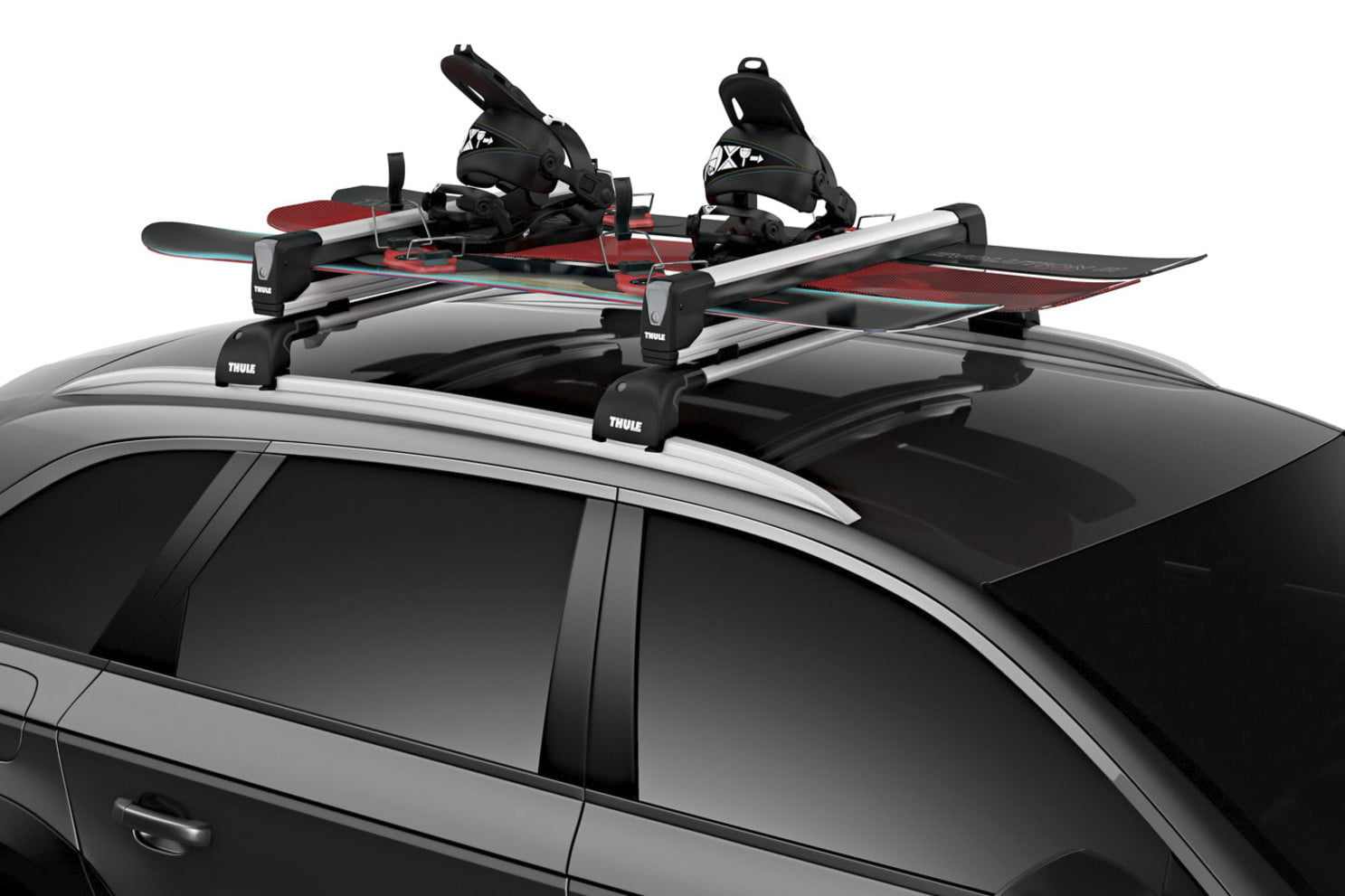 car store ski magnetic snowboard for and no bars vx rack roof