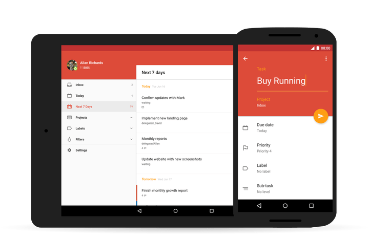 todoist android update material design for banner