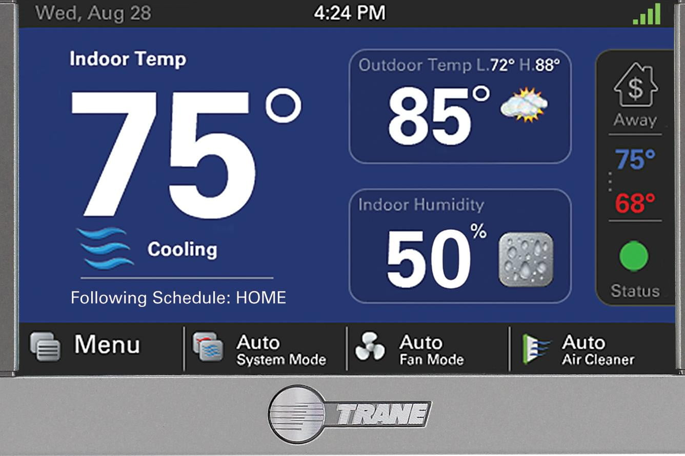 Trane S Xl824 Smart Control Is A Thermostat And Hub