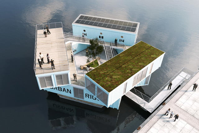 Danish students take to the seas in floating shipping container ...