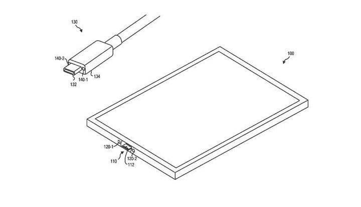microsoft patents magnetic usb c connector