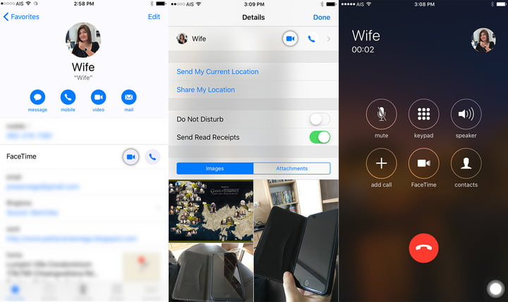 how to call facetime from iphone to ipad