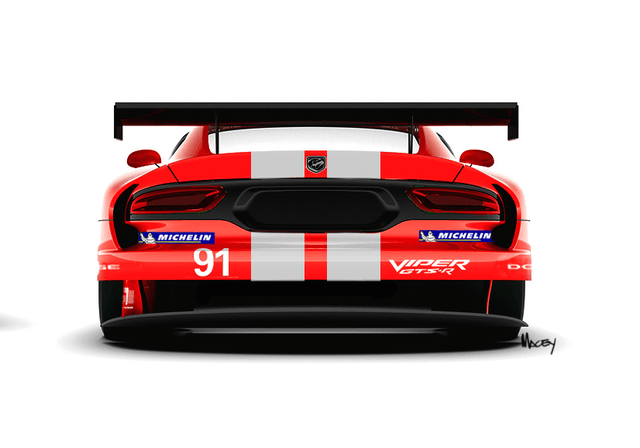 srt viper to wear old dodge racing livery again motorsports 4