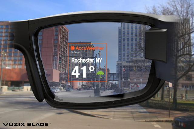 vuzix blade ar smartglasses news accuweather