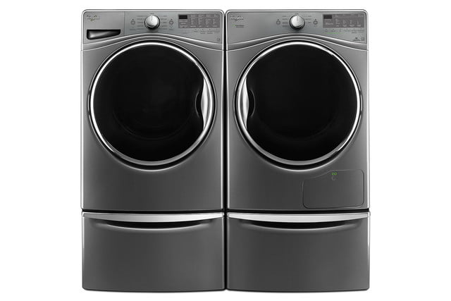 whirlpools smart appliances work with nest and amazon dash whirlpool closet depth washer  hybridcare dryer p150364 19z