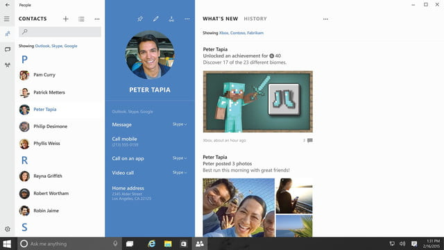 Windows 10 Contacts