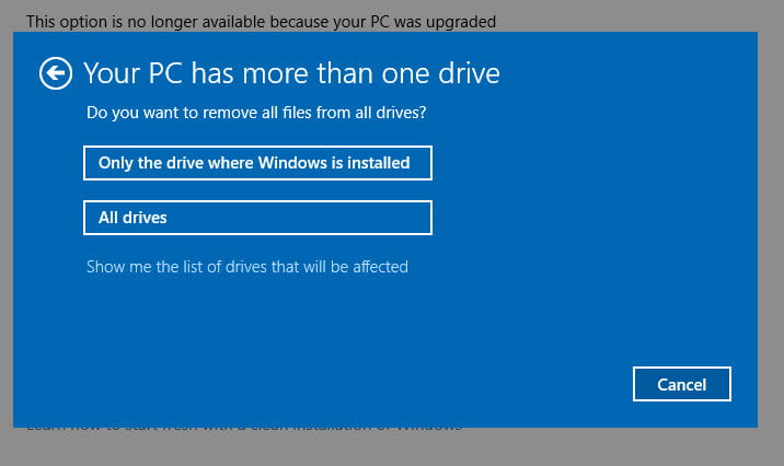 how long does it take to install windows 10 after reset
