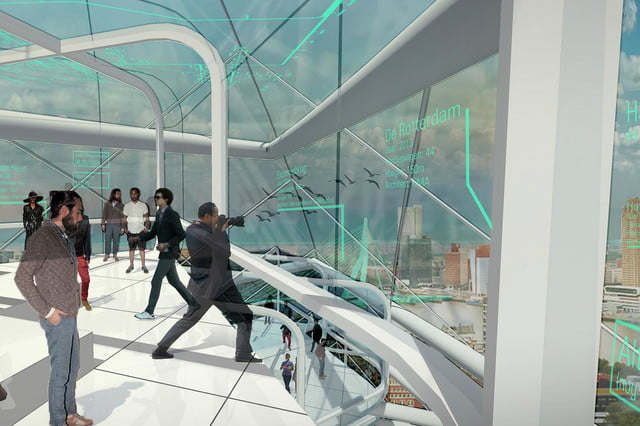 the windwheel is a silent turbine with apartments and great views attaction