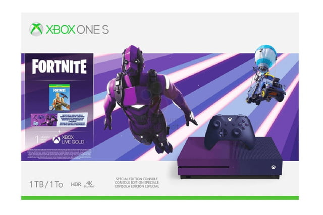 xbox one s fortnite limited edition features very purple